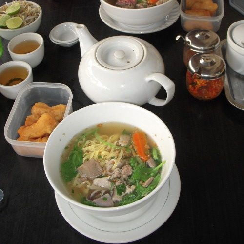 Cambodian Traditional Breakfast: Soup Noodle