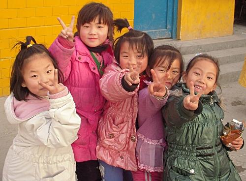 Happy kids in Wende School!
