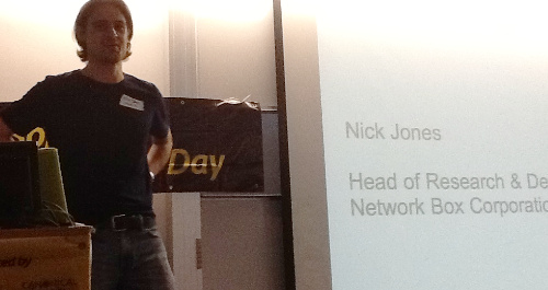 Nick Jones introduced us how NetworkBox Corporation is profiting from Free and OpenSource software.