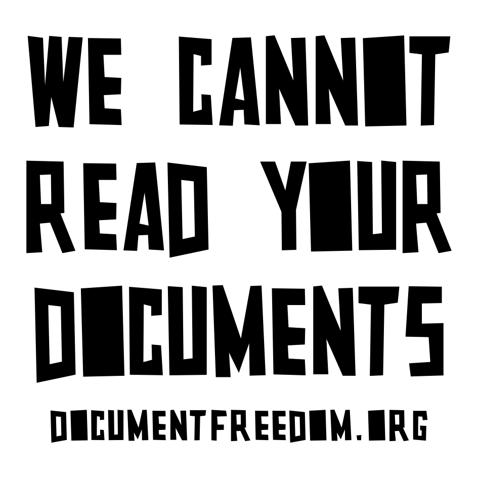 We cannot read your documents
